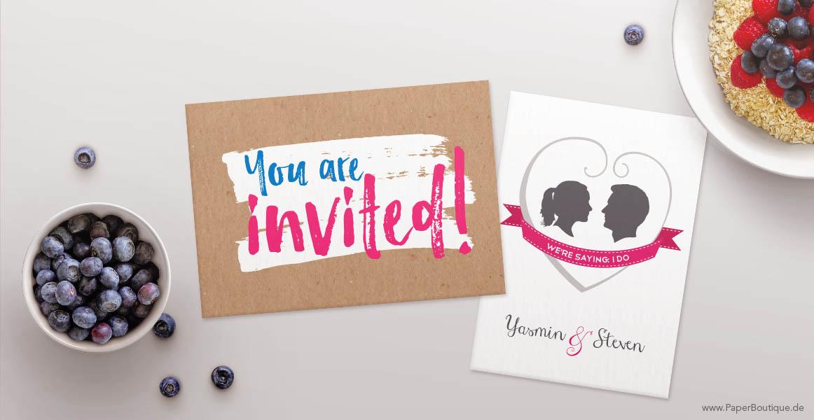 Einladungen Englisch