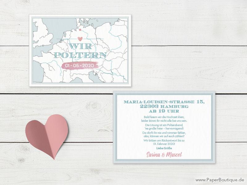 Polterabend einladungskarten sprüche für Einladung selbst
