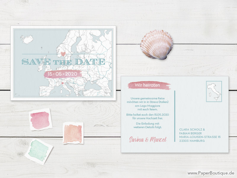 Save-the-Date kreativ vintage